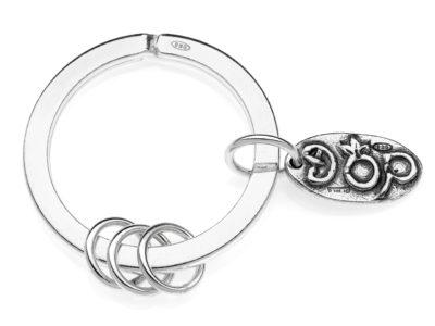 PCDOP001 - Gioielli Dop - Portachiavi - Brisè con 3 anelli